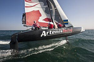 Extreme Sailing Series - An Extreme 40 catamaran