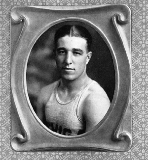 Arthur Karpus - Portrait of Karpus as captain of Michigan's 1921 basketball team.