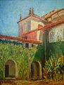 Arthur Timótheo da Costa, páteo interno de igreja, 1917, óleo sobre madeira, 41 x 31 cm, Photo Gedley Belchior Braga.jpg