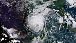 Hurricane Harvey - Harvey as a hurricane on August 24