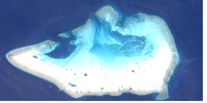 Ashmore and Cartier Islands - NASA satellite image of Ashmore Reef