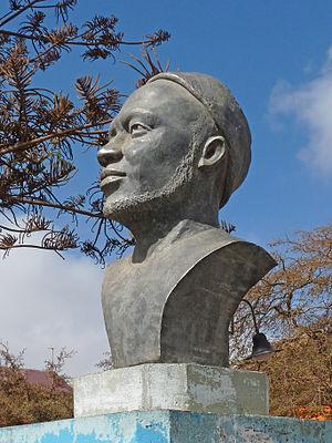 Santa Catarina, Cape Verde - A bust to Amilcar Cabral whose father was born in the municipality