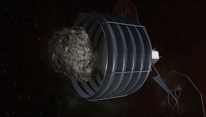 Asteroid Redirect Mission - Image: Asteroid capture