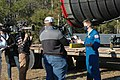 Astronaut Matthew Dominick speaks with media representatives prior to the SLS Green Run Test 01.jpg
