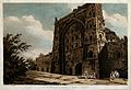 Atala mosque at Jaunpur, Uttar Pradesh. Coloured etching by Wellcome V0050447.jpg