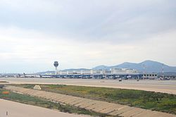 Athens International Airport from taxiway.jpg