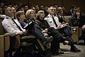 Attendees listen to remarks as U.S. Army Gen. Martin E. Dempsey, not shown, the chairman of the Joint Chiefs of Staff, visits the U.S. Military Academy at West Point, N.Y., March 27, 2014 140327-HU462-484.jpg