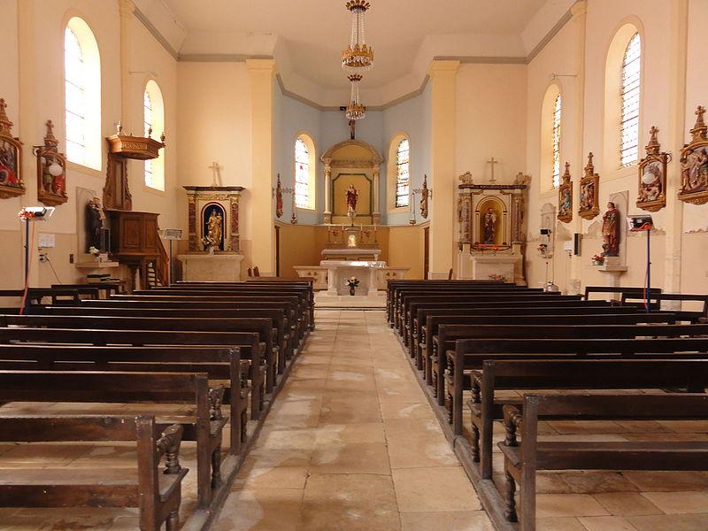 Aulnois sous Vertuzey (Meuse) Église Saint-Sébastien intérieur