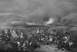 Russian lithograph of the battle