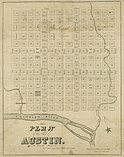 1839 Waller Plan of Austin, Texas