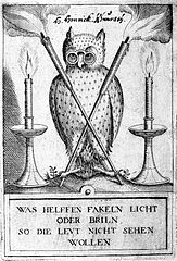 What is the use of the candle or glasses, if the owl does not want to see
