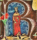 Béla II (Chronicon Pictum 114).jpg