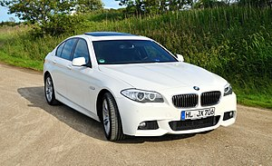 Luxury vehicle - The BMW 5 Series is an example of a mid-size luxury sedan.