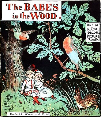 Picture book - Cover of Babes in the Wood, illustrated by Randolph Caldecott