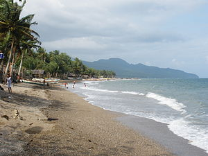 English: Bacon Beach,Sorsogon City facing Nort...