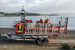 Talus Atlantic 85 DO-DO launch carriage - Image: Bad Achub Newydd a'i Griw New Inshore Rescue Boat and Crew geograph.org.uk 610758