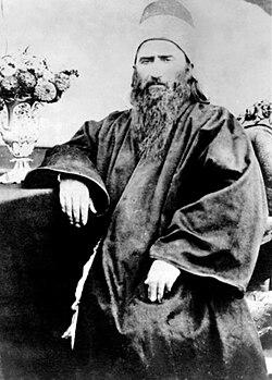 Bahá'u'lláh (Mírzá Ḥusayn-`Alí Núrí) in 1868.jpg