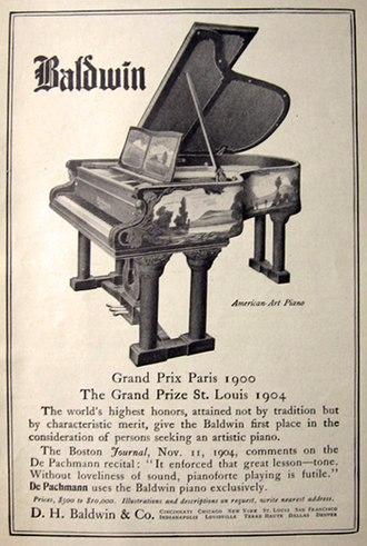 Baldwin Piano Company - A 1905 Baldwin ad.