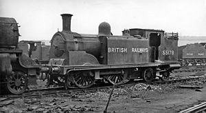 St. Rollox railway works - ex-Caledonian 2P 0-4-4T No. 55178 with other engines at Balornock (St Rollox) Locomotive Depot in 1948