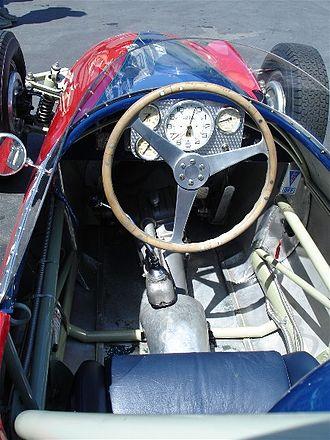 Bandini formula junior - The photo of the passenger of a formula junior