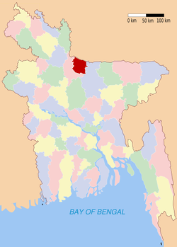 Location of Sherpur in Bangladesh