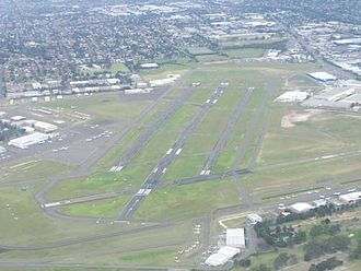 Bankstown Airport - Aerial view of the airport looking east-southeast