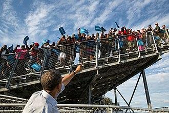 McArthur High School - Barack Obama at McArthur High School, 2012