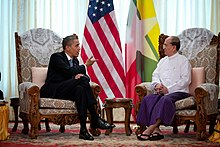 Barack Obama meets with Thein Sein at Burma Parliament Building.jpg