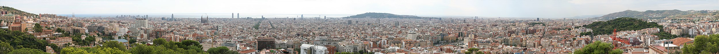 Panorama de Barcelona a partir do Calvário.