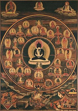 Bardo Thodol - Tibetan Thanka of Bardo. Vision of Serene Deities, 19th Century, Giumet Museum