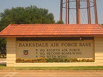 Barksdale Air Force Base - Entrance to Barksdale Air Force Base