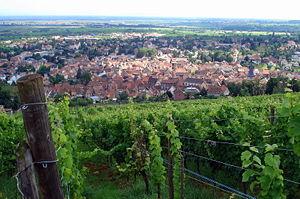 Barr, Bas-Rhin - A view over Barr