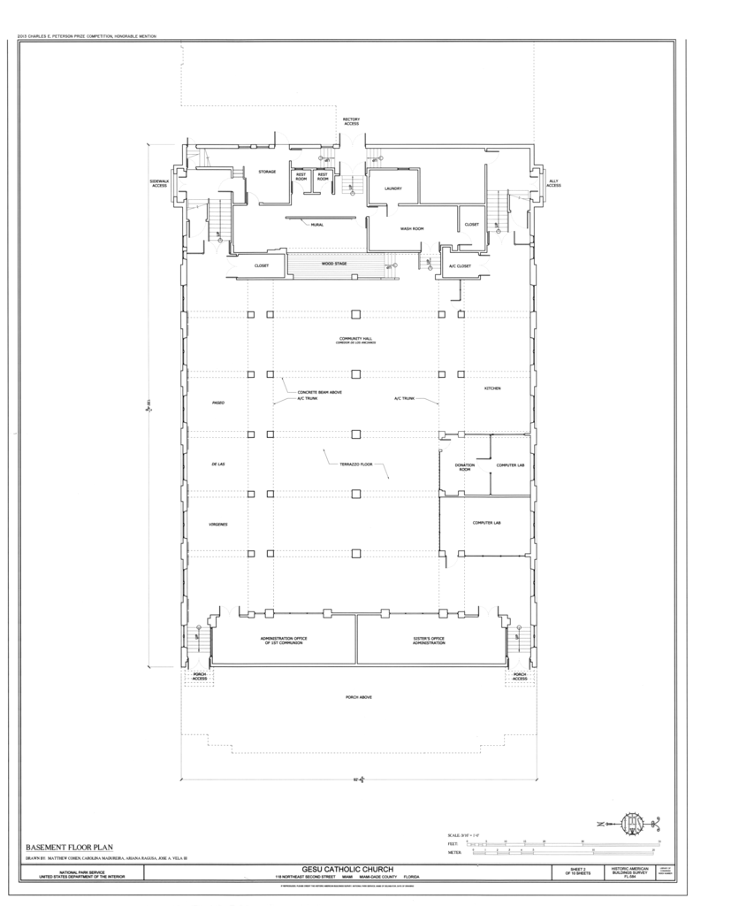 File Basement Floor Plan Gesu Catholic Church 118