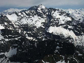 Bashful Peak - The western face of Bashful Peak, as seen from the summit of Bold Peak