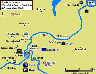 Map of the Battle of Lübeck