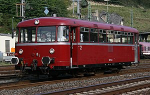 Railbus - Two-engined Uerdingen railbus of Deutsche Bundesbahn
