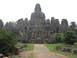 Henri Parmentier - The Bayon temple in Angkor.