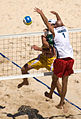Beach volley at the Beijing Olympics - Final USA v. Brazil.jpg