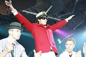 Beastie Boys - The Beastie Boys (left to right) Ad-Rock, Mike D, and MCA performing in Barcelona, Spain in September 2007.