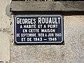 Beaumont-sur-Sarthe (Sarthe) Maison où habitait Georges Rouault, plaque.jpg