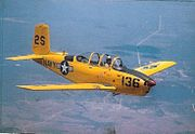 Beech T-34B in flight c1950s