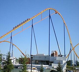 Behemoth (roller coaster) roller coaster at Canadas Wonderland