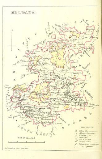 Belgaum - Belgaum 1896 map