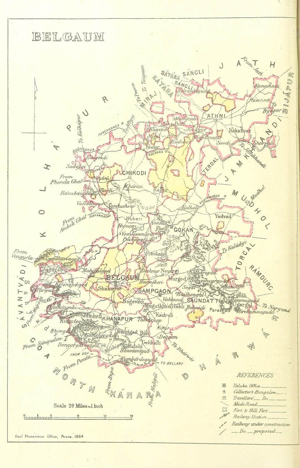 Belgaum 1896 map