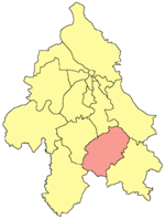 Location of Sopot within the city of Belgrade