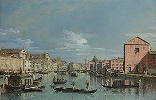 Venice: The Grand Canal facing Santa Croce