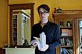 Benjamin Moser with a book manuscript.jpg