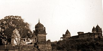 Jubbulpore Division - Temples in Lameta Ghat near Jubbulpore built by the Beohar dynasty in c. 16-18th century