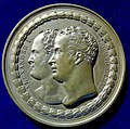 Berlin, Medal 1818, Alexander I of Russia, and Friedrich Wilhelm III of Prussia, obverse.jpg