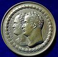 Berlin, Medal 1818, Alexander I of Russia, and Friedrich Wilhelm III of Prussia, obverse.jpg